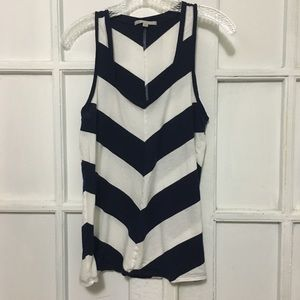 Navy Blue chevron tank top GAP size M